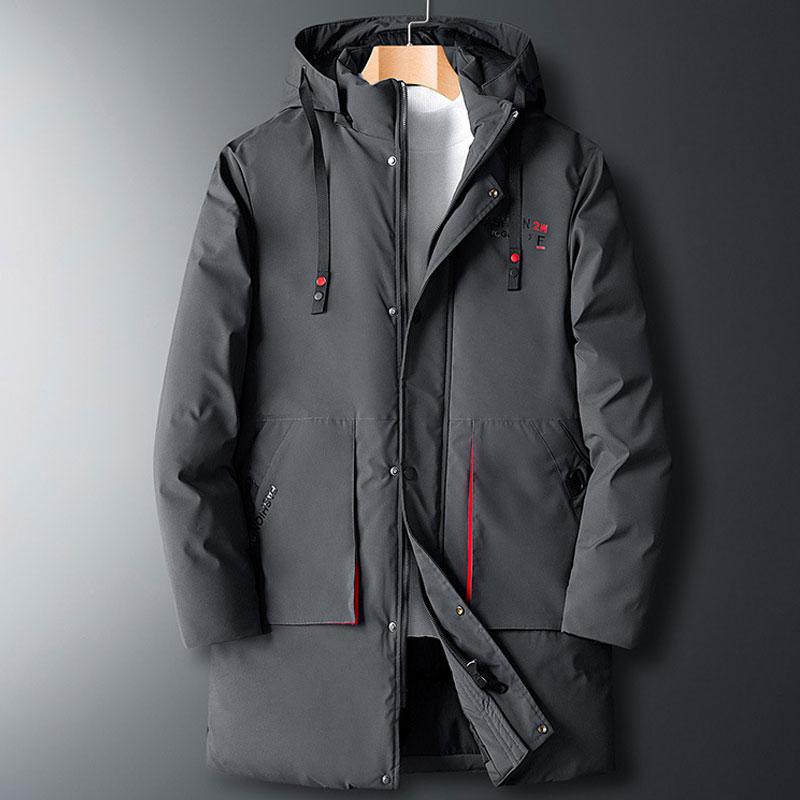 Winter Mens   Parka   Jacket Hooded Casual Long Winter Jacket Men Black Plus Size 8XL Cotton Thick Mens Windbreaker Jackets Casacos