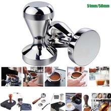 Liga de alumínio 51mm tamper artesanal café pressionado em pó martelo espresso fabricante café barista ferramentas acessórios da máquina
