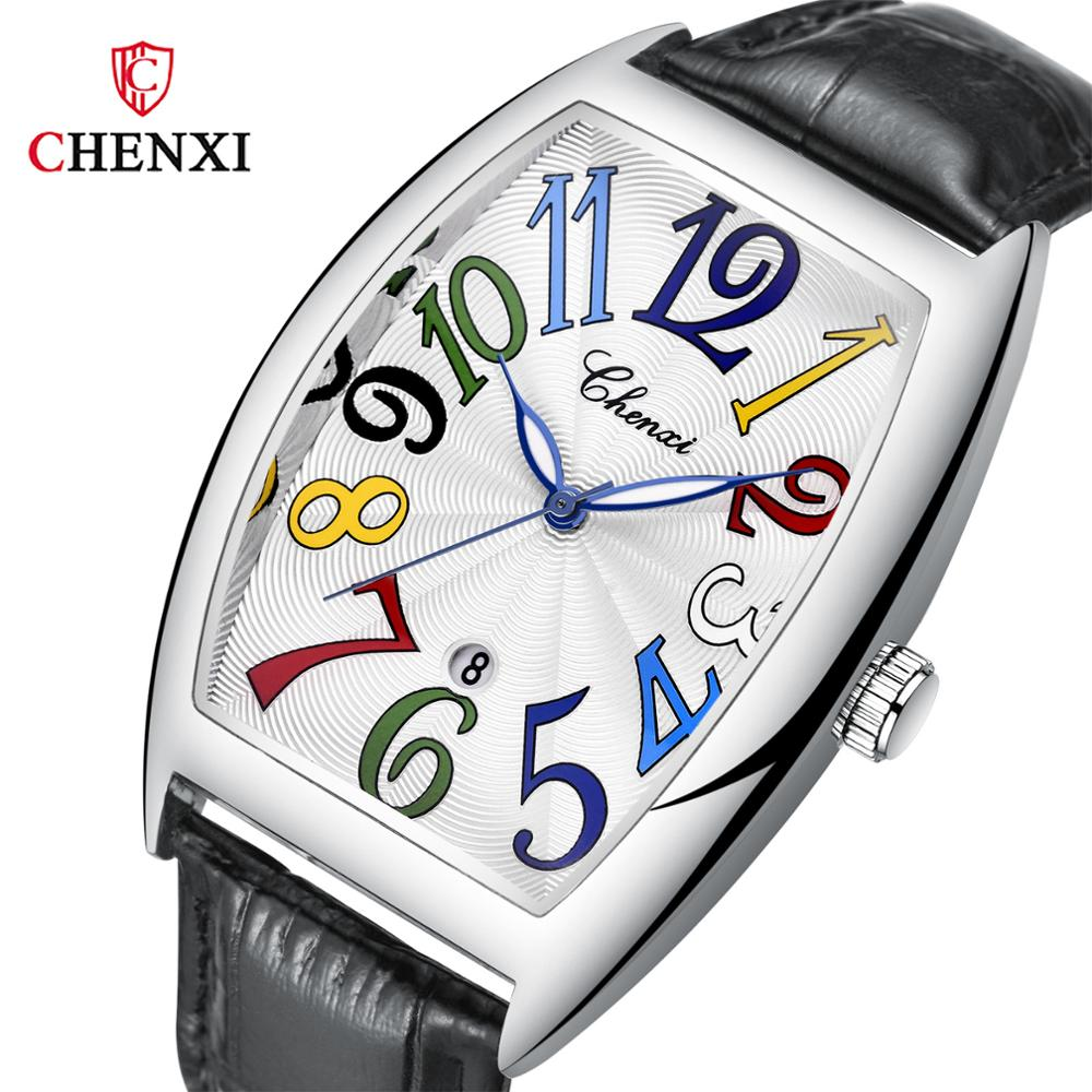 Fashion Luxury Brand Square Watch Men Tonneau Waterproof Business Quartz Leather Wrist Watch For Men Clock Male Erkek Kol Saati