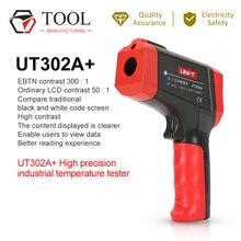 UNI T الأشعة تحت الحمراء ميزان الحرارة الرقمية عدم الاتصال الأشعة تحت الحمراء بندقية UT302A عالية الدقة الصناعية جهاز قياس درجة الحرارة