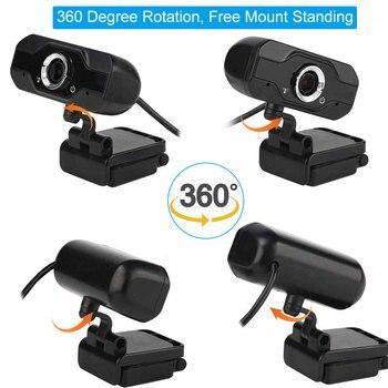 Speaker Webcam 1080p Web Camera with Microphone PC Camera Full HD Webcam 1080p Web Cam for Computor Usb Camera With Webcam Cover 4