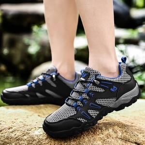Image 5 - 新ホット販売超軽量カジュアル夏通気性スポーツの靴ジョギングソフト快適なメッシュスニーカー黒靴 47