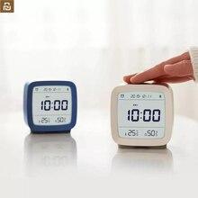 Youpin cleargrass bluetooth relógio despertador, controle inteligente, temperatura, umidade, tela lcd, ajustável, luz noturna
