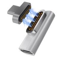 Nowość enhanced 20 pinów magnetyczny Adapter USB C 4K 100W szybkie ładowanie dla Macbook Pro Pixelbook GY88 w Adaptery do telefonów komórkowych od Telefony komórkowe i telekomunikacja na