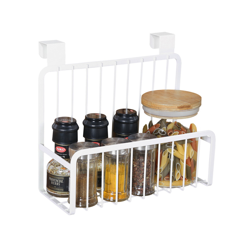 Wall mounted kitchen rack bathroom door back  Storage Rack Wardrobe Organizer Hanger Cupboard Hanging Hook Shelf Cabinet Parts