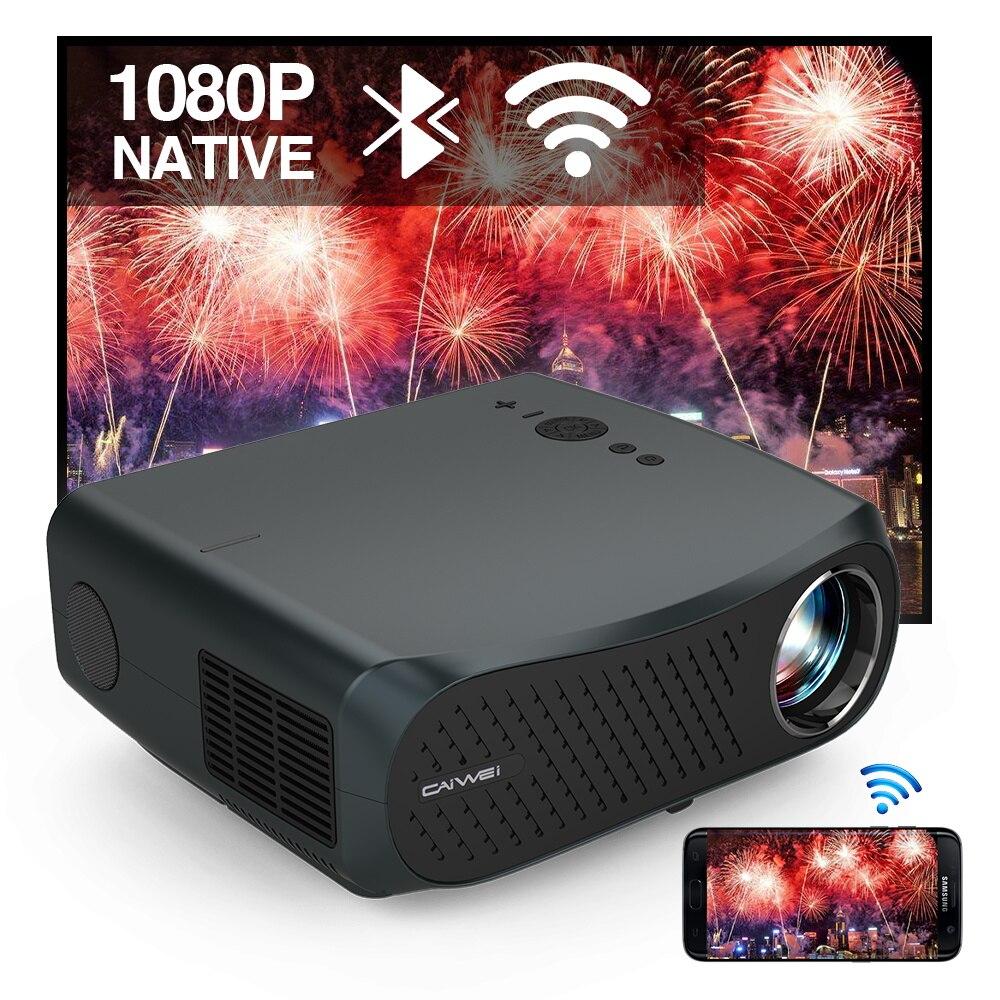 CAIWEI A12AB Native 1080P 7200 люмен светодиодный Android 6,0 Wifi Bluetooth проектор Full HD для домашнего кинотеатра, видео, ЖК-дисплей