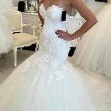 Bridal-Gowns Wedding-Dress Angelsbridep Mermaid Formal Tulle Sweetheart Appliques Vestidos-De-Novia