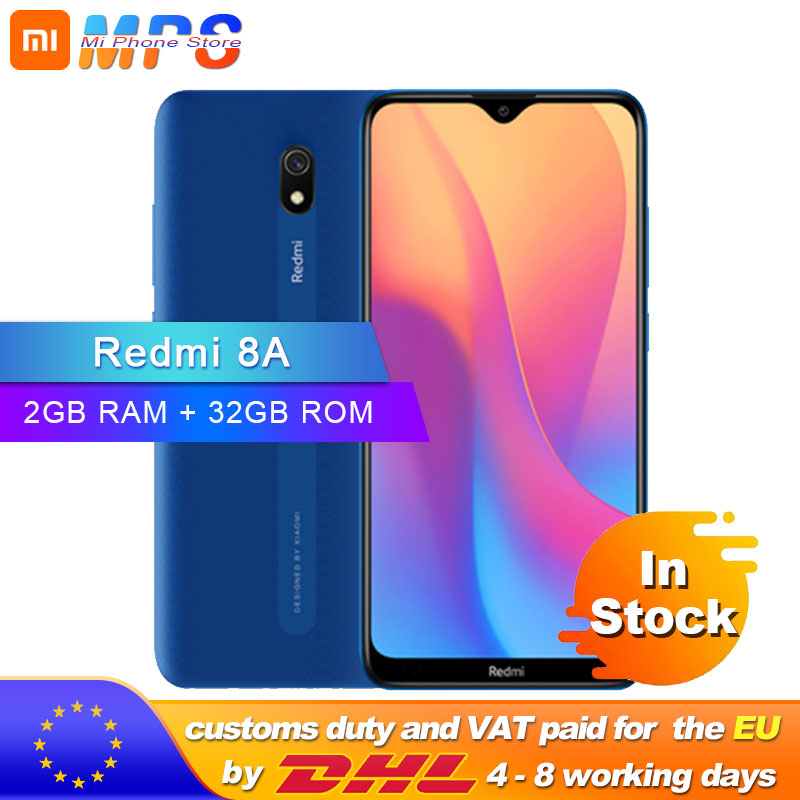 Global Version Xiaomi Redmi 8A 2GB 32GB Smartphone Snapdargon 439 Octa Core 5000mAh 12MP AI Camera Type-C