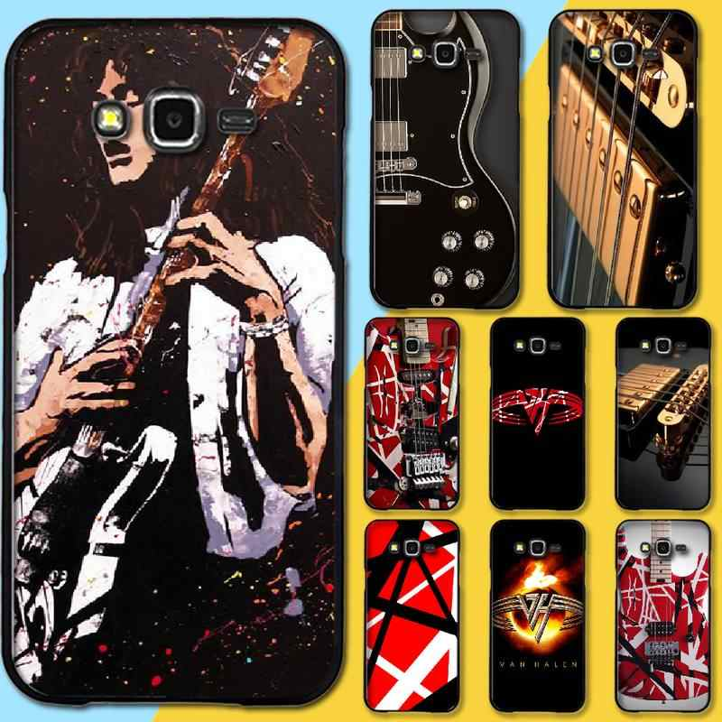 Penghuwan エディ · ヴァン · グラフィックギターソフト黒電話ケース J7 J8 J3 J4 J5 J6 プラス 2018 プライム