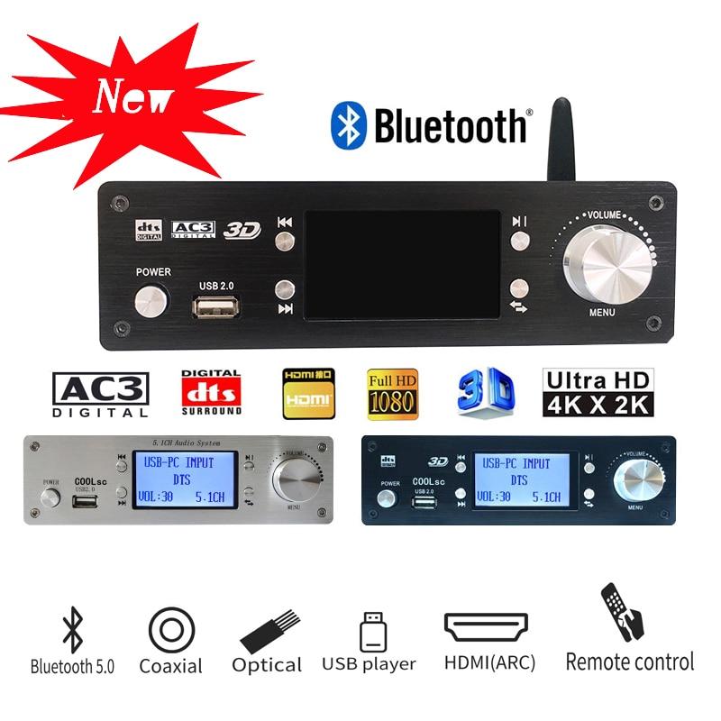 Профессиональный 5,1 каналов аудио декодер USB U диск формат музыки без потери качества воспроизведения Bluetooth 5,0 волоконно-оптический коаксиал...