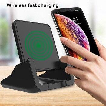 10 Вт QI Быстрое беспроводное зарядное устройство для iPhone 11 Pro X XS samsung S10 S9 S8 Настольное вертикальное Беспроводное зарядное устройство