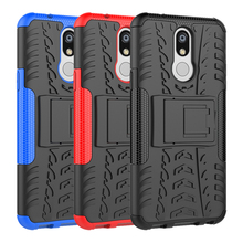 Case For LG K40 Case Cover Silicone Soft TPU + PC Heavy Duty Armor Back Mobile Phone Holder For LG K12 Plus X4 2019 Coque Fundas цена