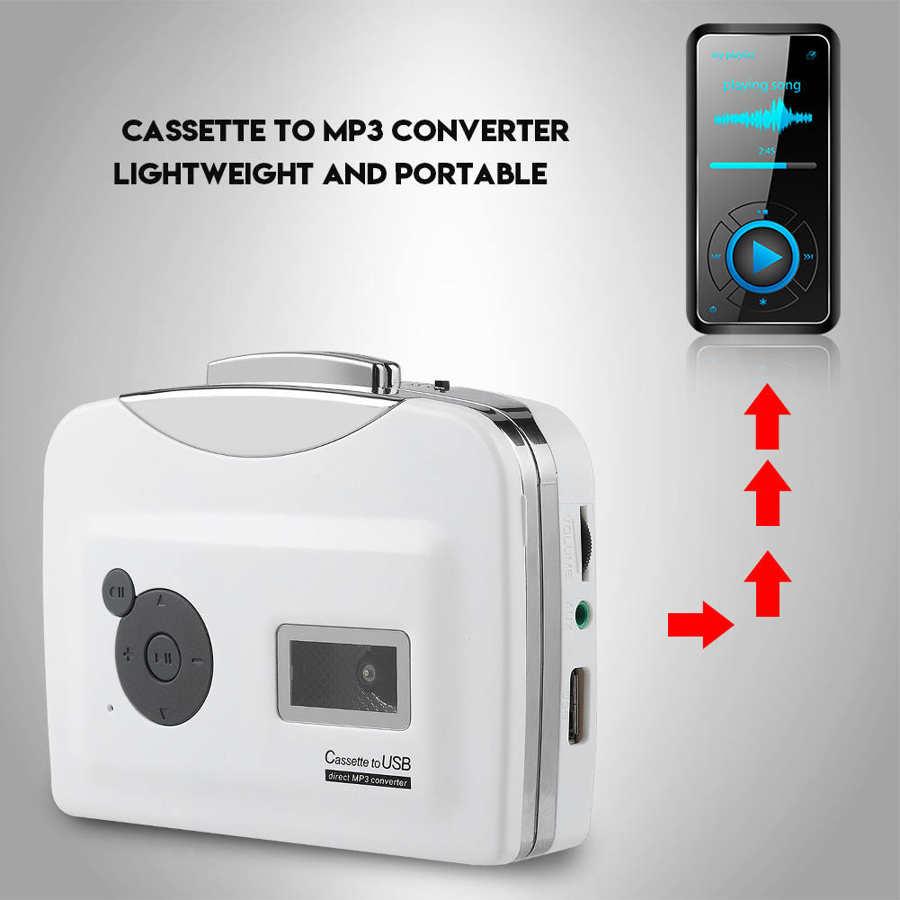 Cassette player Portable Cassette Tape to MP3 Converter USB Flash Drive Capture Audio Music Player Recorder 4