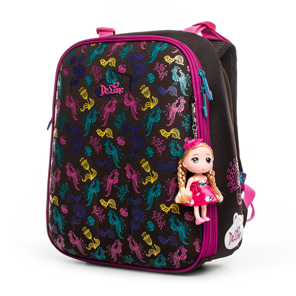 2020 Russia Famous Brand Delune 3D Cartoon Children School Bags For Girls 4-035 Orthopedic Backpack Primary School Kids Backpack