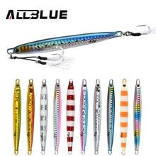 ALLBLUE SLOWER Long Metal Jig Fishing Lure Slow Cast Jigging Spoon 20G 30G 40G 60G Artificial Shore Lead Metal Bait Sea Tackle
