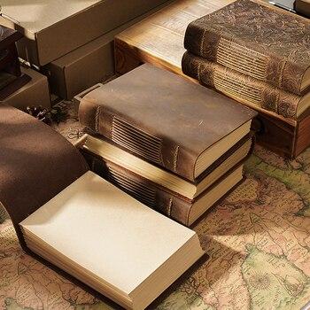 Di alta qualità epoca Fatti A Mano notebook Schizzo Originale organizer In Pelle Retrò Notepad carta Notebook Creativo ambientale