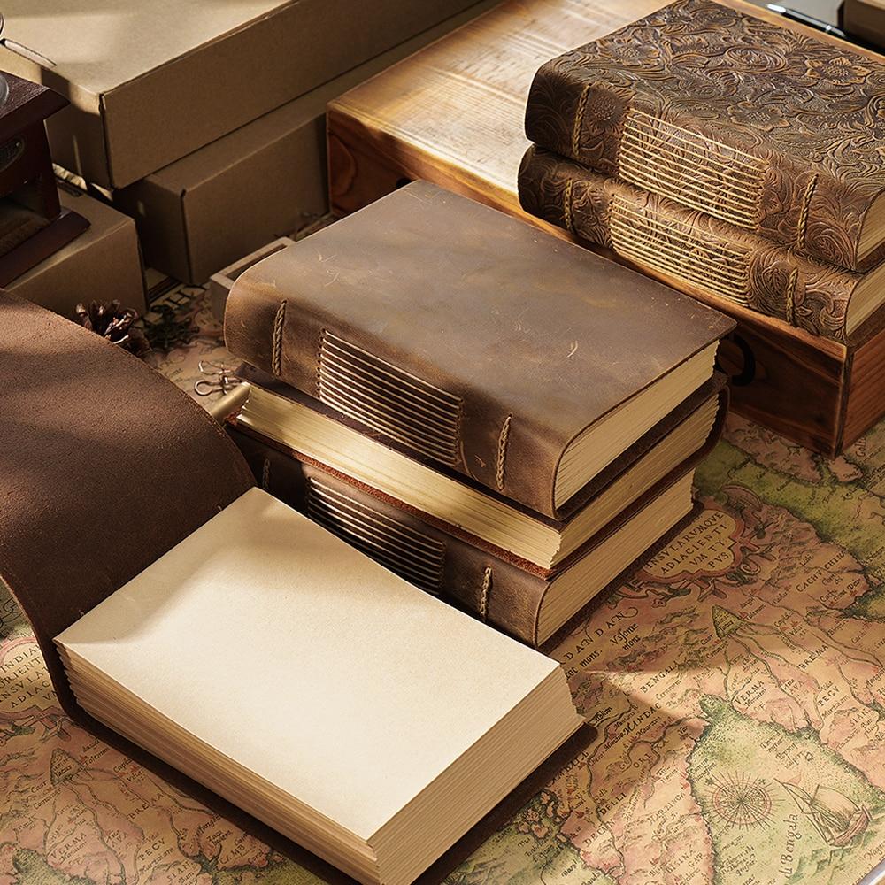 Высококачественный винтажный блокнот ручной работы, оригинальный органайзер для эскизов, кожаный блокнот в стиле ретро, блокнот для творче...