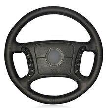 Black PU Faux Leather DIY Car Steering Wheel Cover for BMW E36 1995 2000 E46 1998 2004 E39 1995 2003 X3 E83 X5 E53 2000 2006