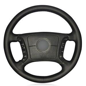 Image 1 - Zwart Pu Kunstleer Diy Auto Stuurhoes Voor Bmw E36 1995 2000 E46 1998 2004 E39 1995 2003 X3 E83 X5 E53 2000 2006