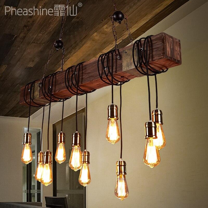 American Country Industrial Chandelier Bar Cafe Restaurant Bar Creative Boat Wood Chandelie