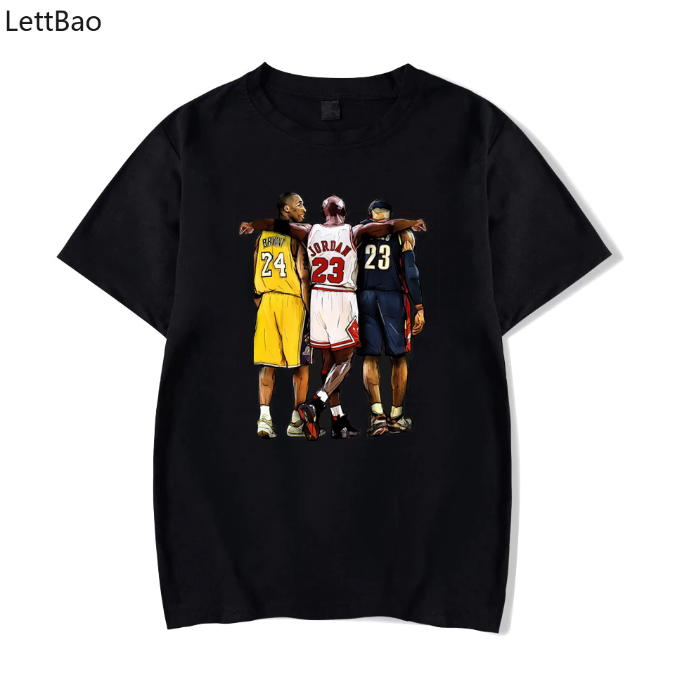 Kobe Bryant Michael Jordan Lebron James Tshirt Fashion New T-Shirt Funny Harajuku T-shirt Streetwear High Quality Men Tshirt