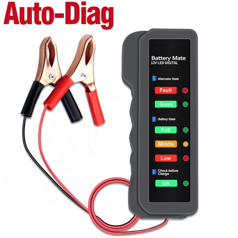 OBDResource Tester alternatore Digitale 12 V per Batteria Auto e Moto