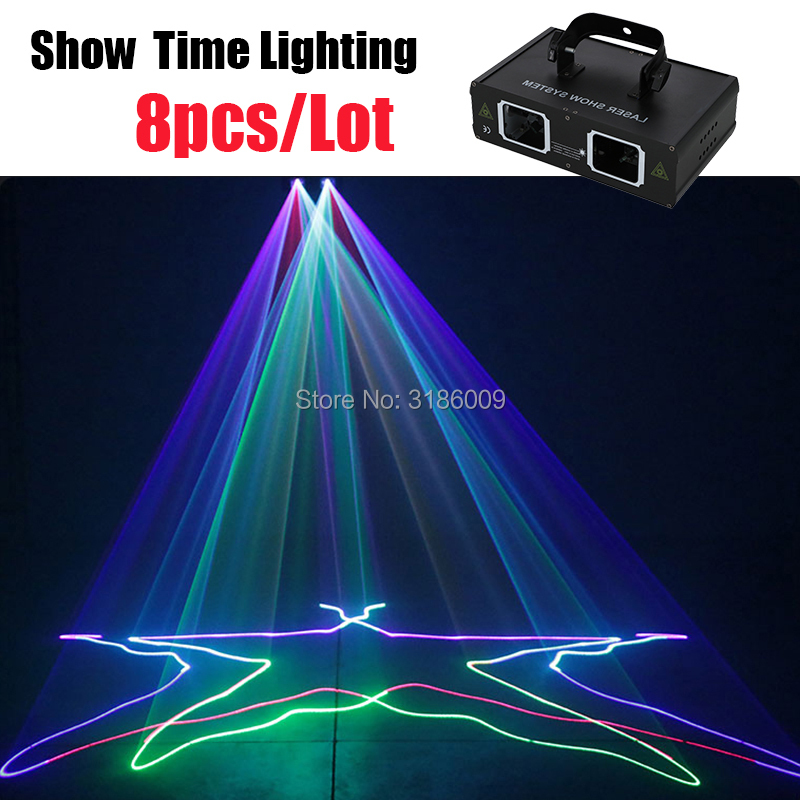 8Pcs/Lot Good Effect Dj Laser Full Color Scanner Line Beam Lazer Use For Home Entertainment Party KTV Night Club Dance