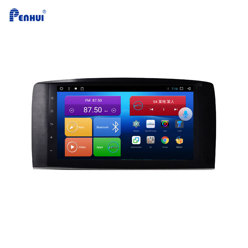 9 дюймов Android 8,1 8 ядер 4 Гб RAM + 64 Гб ROM автомобильный DVD GPS для Mercedes Benz R Class w251(2006 )CarPlay/Mirrorlink/DSP/Wifi/4G