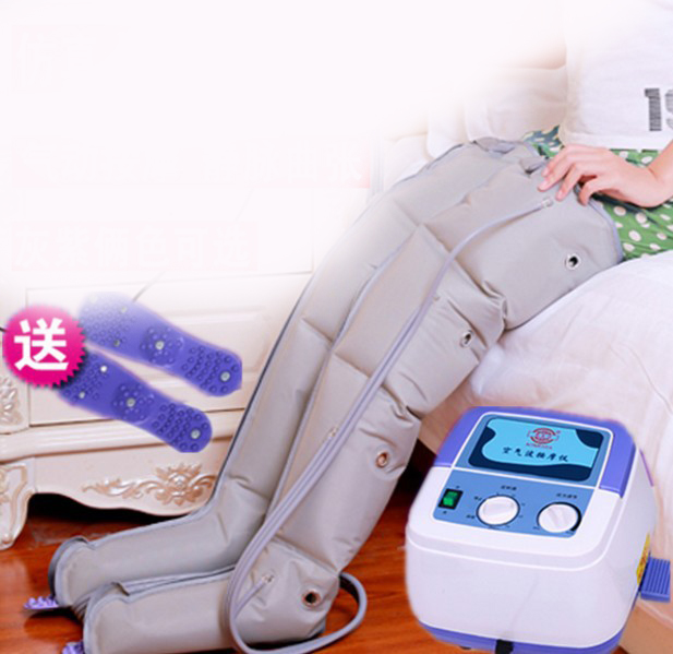 old man pneumatic leg kneading massager waist foot air wave pressure circulation massager