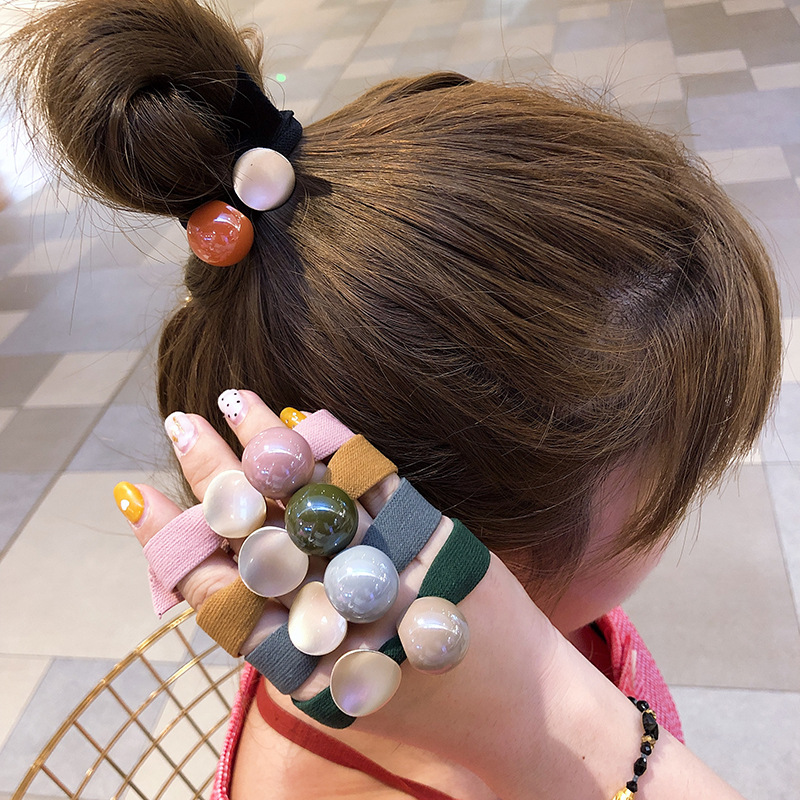 Hot Sale Korean Simple Scrunchie Women Girls Elastic Hair Rubber Bands Accessories Tie Hair Rope Ring Holder Ornaments Headdress