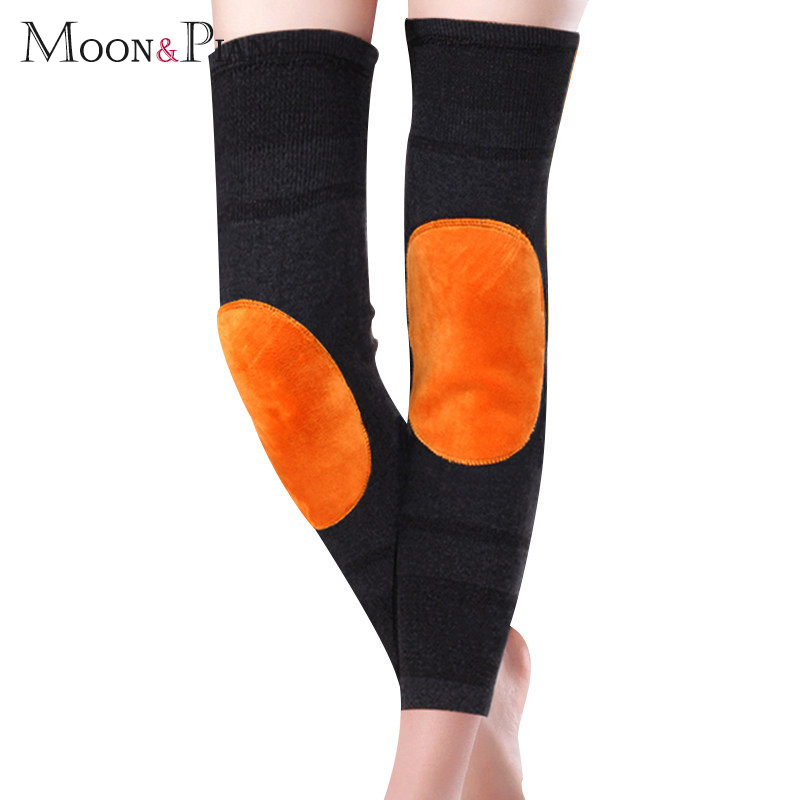 Knee Pads Thickening Warm Cycling Knee Pads Thermal Autumn Winter Men And Women Elastic Knee Joint Health Care Support Sports