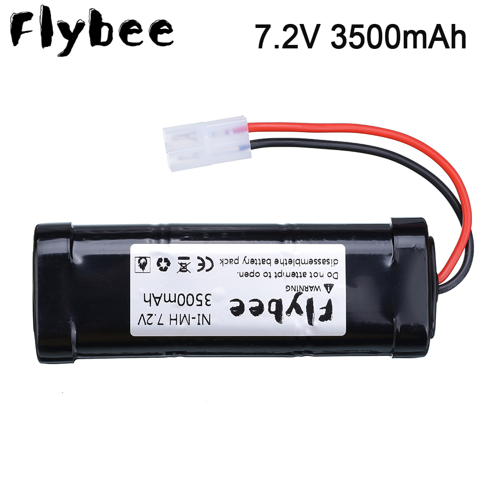 FLYBEE <font><b>7.2V</b></font> 3500mAh/5000mAh <font><b>NiMH</b></font> Rechargeable RC toy Battery with <font><b>Tamiya</b></font> Discharge Connector for RC Racing Cars ,Trucks,Aircraft image