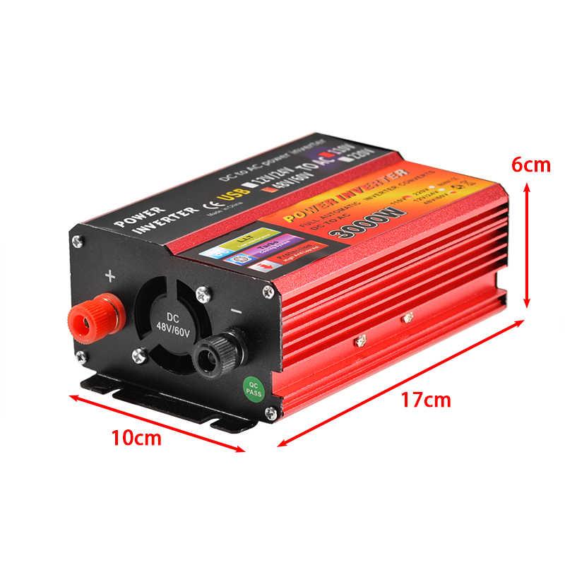 Omvormer 12V 220V 3000W Piek Voltage Converter Transformator Dc 12V & 24V 48V & 60V Naar Ac 110V/220V Auto Passen Inversor