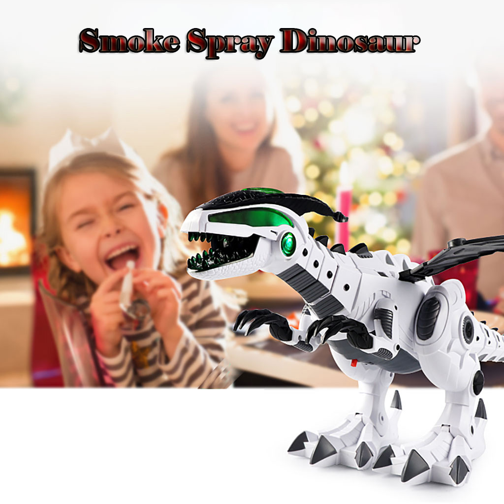 Electric Spray Dinosaur Dragon Electric Robot Pet With Music Light Kids Toy Gift Action Child Christmas Gift Fun Eject