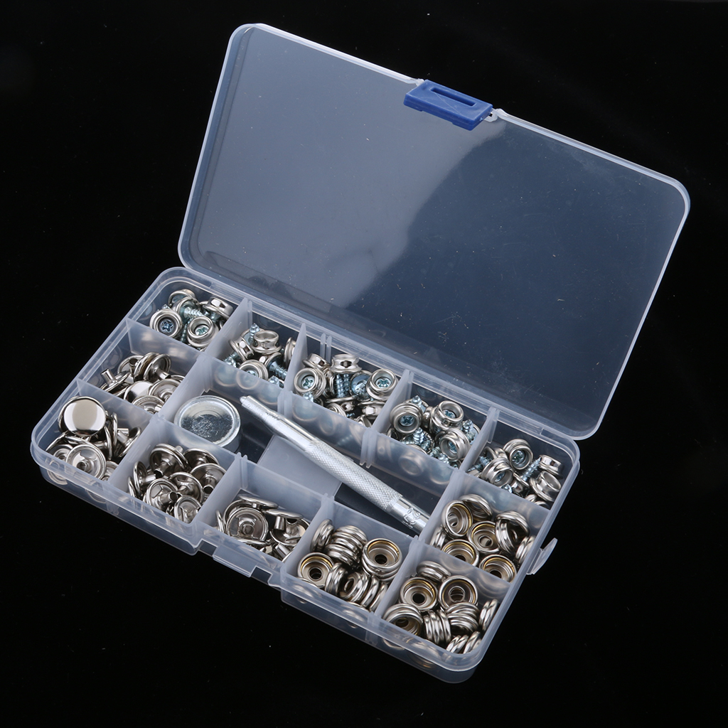 152Pcs Boat Cover Snap Button Fastener Kit 3/8