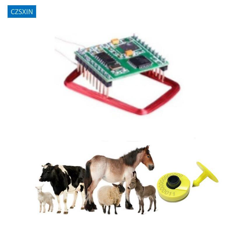 134.2KHz FDX-B EM4305 Rfid Animal Ear Tag Reader Antena ISO11784/85 For Animal Tracking Cattle Sheep