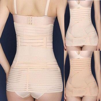 Wowen 3 in 1 Belly/Abdomen/Pelvis Postpartum Belt Body Recovery Shapewear Belly Slim Waist Cinchers Breathable Waist Trainer