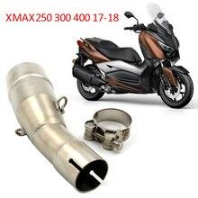 دراجة نارية الانزلاق على العادم الأوسط الأنابيب لياماها X MAX XMAX 250 300 400 2017 2018 18 للصدأ X MAX250 X MAX300 X MAX400