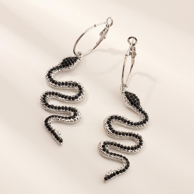 Женские серьги в стиле панк змеи luokey изящная кристальная