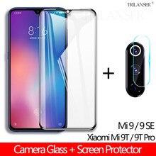 лучшая цена 2-In-1 Camera Glass For Xiaomi Mi 9T 9 SE Glass Mi9 Lens film Mi9t Xiaomi tempered glass Xiaomi Mi 9 SE Mi 9t screen protector