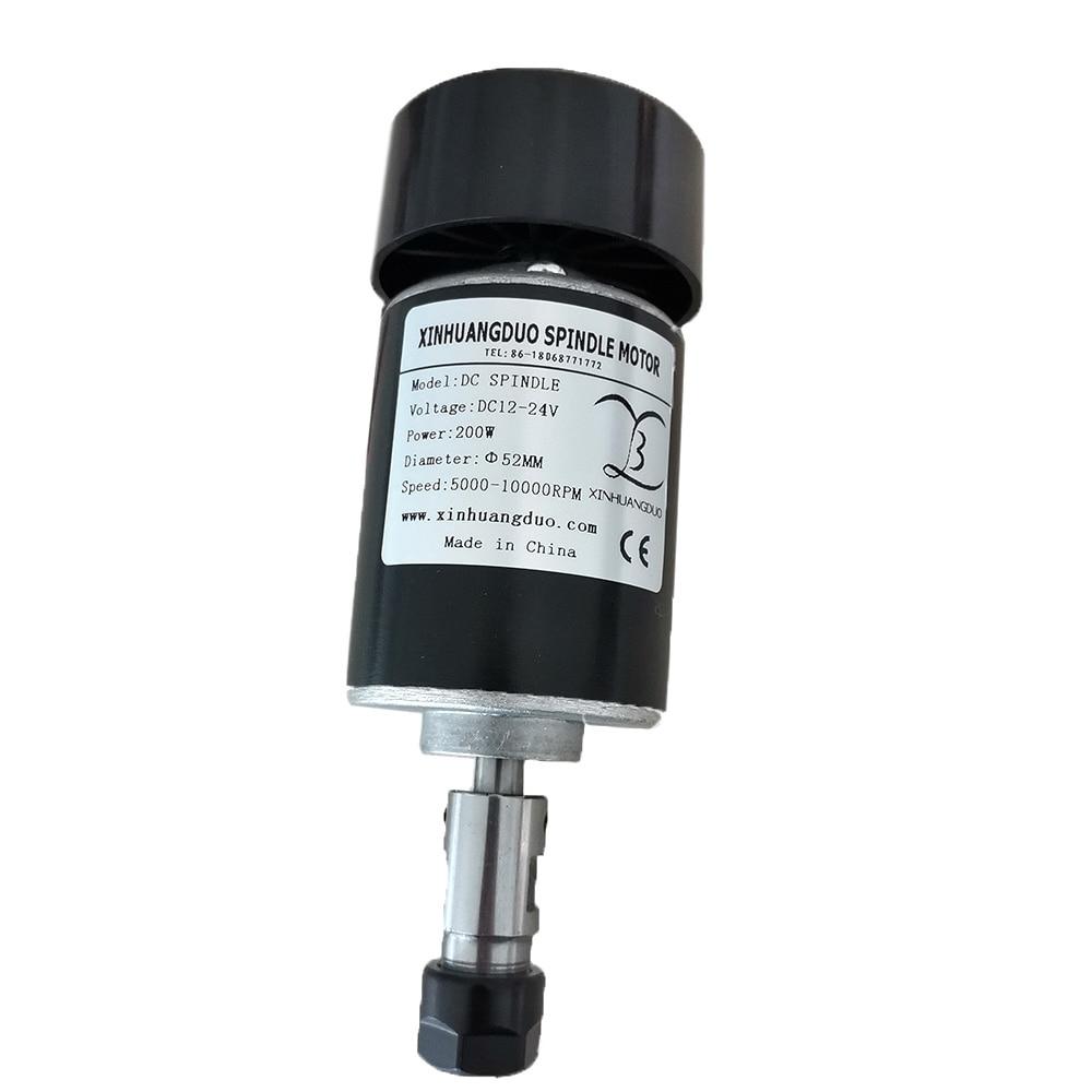 500W 24VDC Spindle Motor Air-Cooled ER16 500mN.m 10000r//min CNC DIY