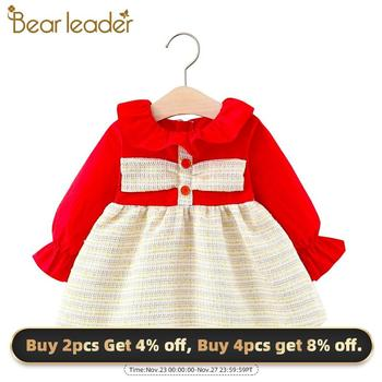 Bear Leader Toddler Baby Princess Dresses 2020 New Fashion Kids Girl Ruffles Dress Autumn Sweet Clothes Casual Newborn Outfits