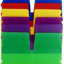 Clip-Holder Organizer Cover Box-Bag Storage-Case Portable-Container Plastic Multicolor