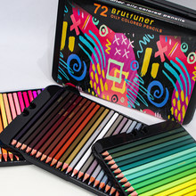 Brutfuner 72/120/180 Color Professional Oil Color Pencils Set Tin Box Wood Sketching Colored Pencil For School Art Supplies