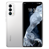 In Stock Meizu 18 5G Cell Phone Screen Fingerprint 64.0MP 30W Fast Charger Snapdragon 888 Android 10.0 12GB RAM 256GB ROM GPS 2