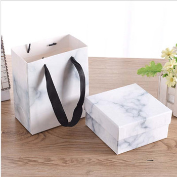 100pcs Marbling Design Delicate Printing Box Cute Ring Box Jewelry Display Package Gift For Woman Wedding Anniversary Box4x4x3cm