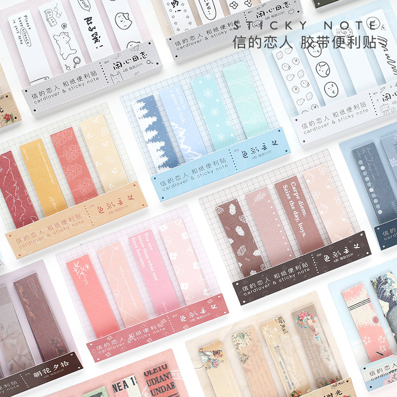 1set/lot Memo Pads Sticky Notes Colorism Series Paper Diary Scrapbooking Stickers Office School Stationery Notepad