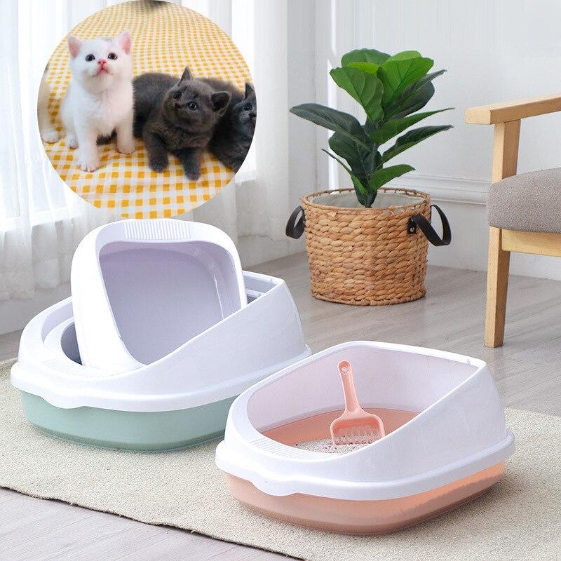 Pet Cat Toilet Bedpan Anti Splash Cats Litter Scoop Box Cat Dog Tray Kitten Dog Clean Toilette Trainer Home Sand Box Accessories