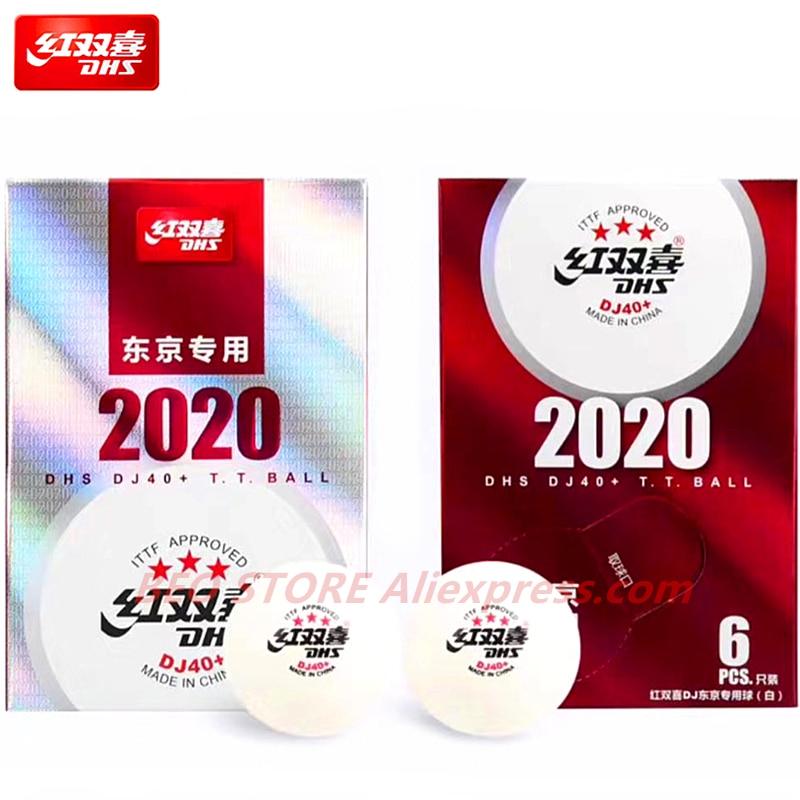 DHS DJ40+ 3-Star Table Tennis Ball ITTF Tokyo Olympic Game 2020 BUSAN WORLD Championships Plastic ABS DHS 3 Star Ping Pong Balls