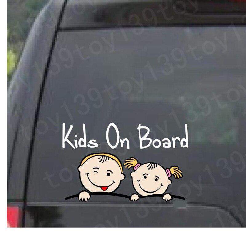 NetCat/детские автомобильные наклейки для детей/Водонепроницаемые/Автомобильные окна/не печатаются/забавные виниловые Автомобильные наклей...